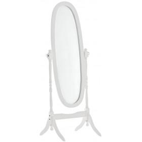 Espejo de Pie de Madera Ovalado Cora